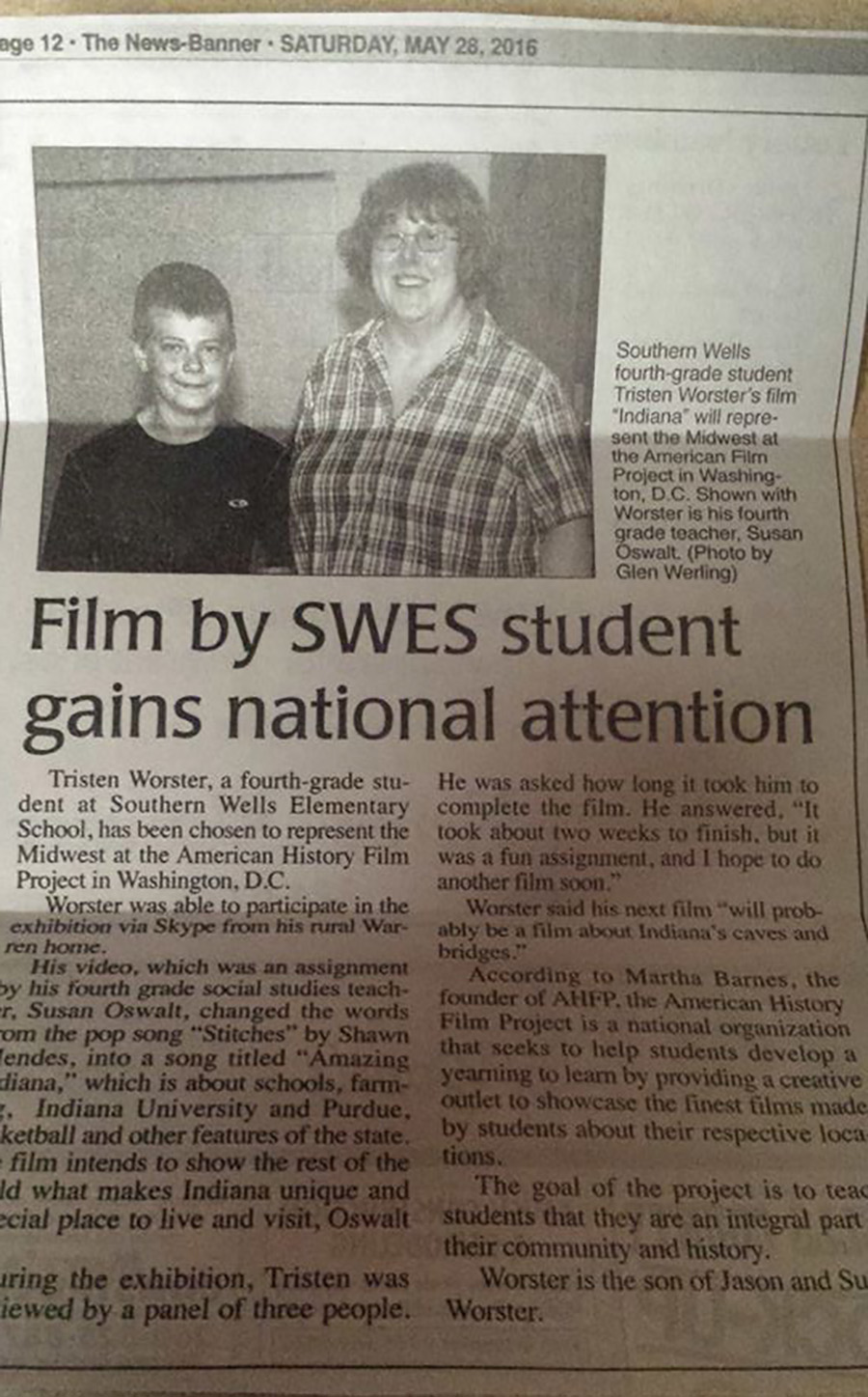 Film by SWES Student Gains National Attention