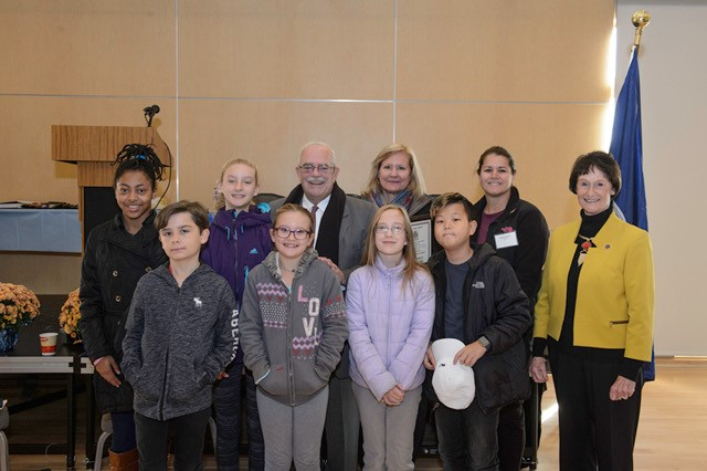 """""""Time Trekkers""""- some of the students from Cherry Run ES."""